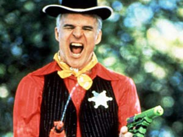 PARENTHOOD, Steve Martin, 1989, playing cowboy for the kids