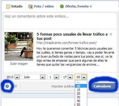 Programar publicaciones en Facebook. (1/4)