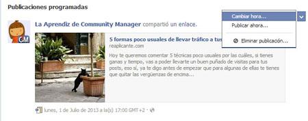 Programar publicaciones en Facebook. (4/4)