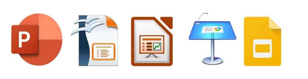 Logo de différentes marques de PowerPoint.
