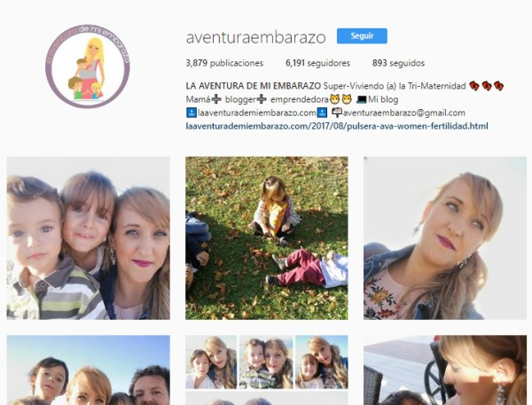 instagram aventura embarazo