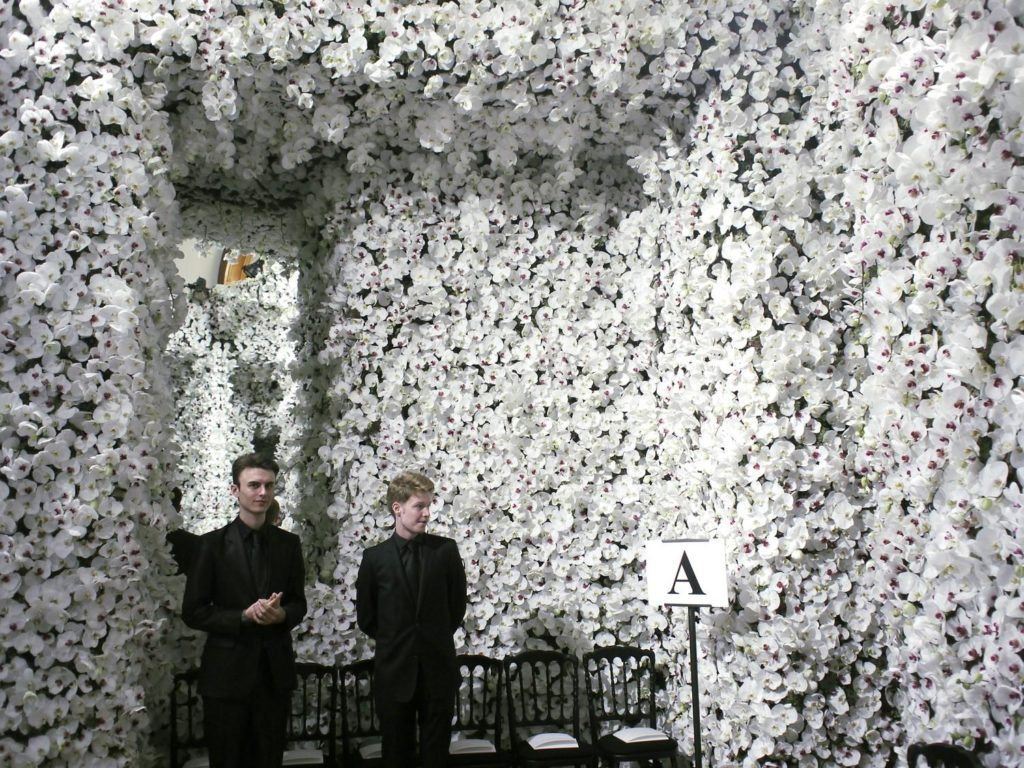 Fall Ceiling Wallpaper Design Works Of Dior Haute Couture 2012 Floral Set Design Lab