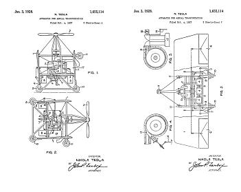 Tesla Patent 1,655,113