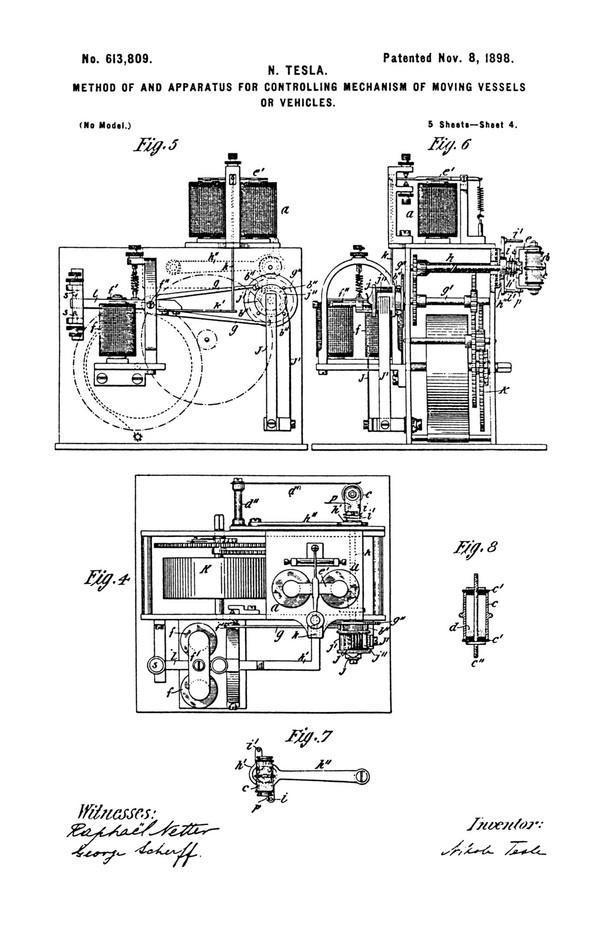 Tesla Patent 613,809
