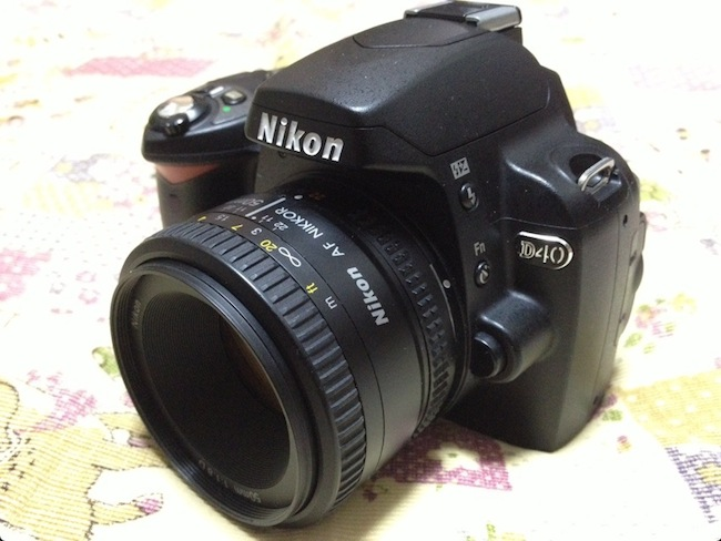 Nikon D40+Nikkor 50mm F1.8Dで初撮影したら驚くほど好きな雰囲気の写真が撮れた。