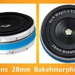 Toy Lens 28mm Bokehmorphic lens