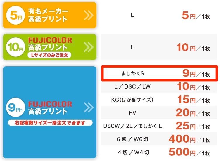 ネットプリントジャパンの「ましかくプリント」