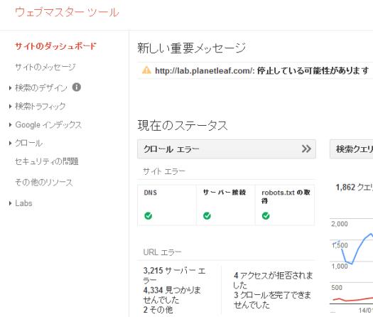 Web Master Tools Dashboard