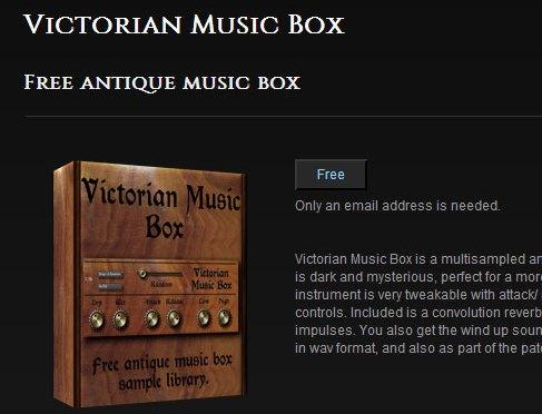 Victorian Music Box version 1.1 がリリースされました