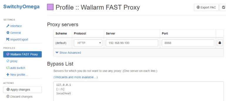 Profile: Wallarm FAST Proxy