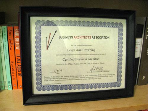 CBA Certificate
