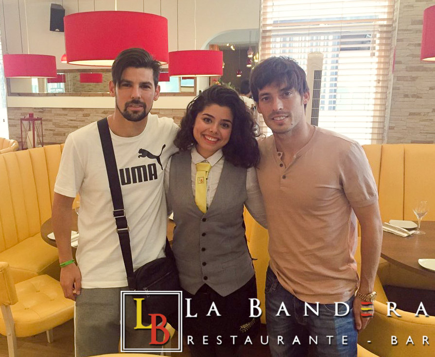 Nolito and David Silva at La Bandera
