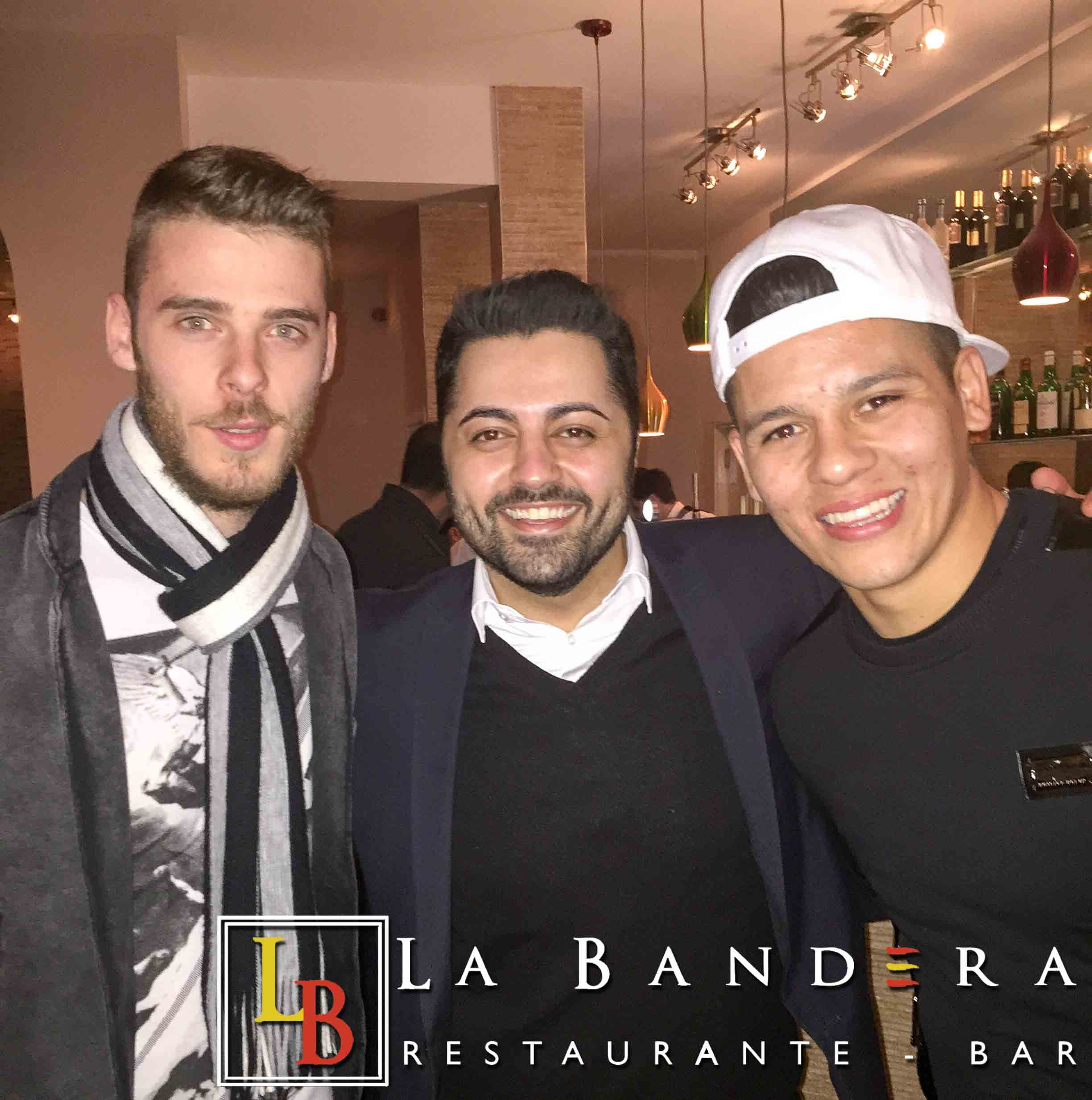 David De Gea and Marcos Rojo at La Bandera