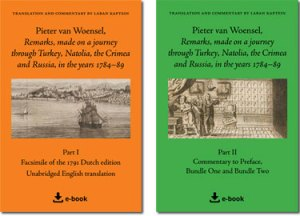 Pieter van Woensel Remarks Aanteekeningen. Book covers Part 1 and Part 2.