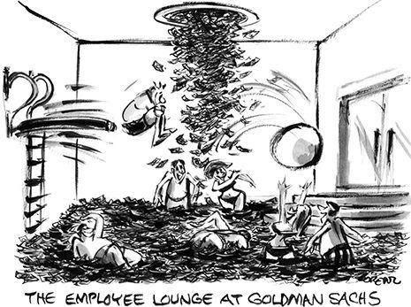 La sala de empleados de Goldman Sachs. Y luego dicen que no hay que financiar con la reserva a Miami...