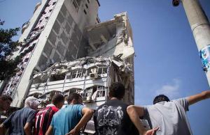 Imagen de un edificio destruido en Gaza. Foto: Basel Yazouri.