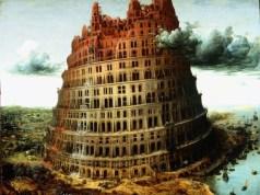 La pequeña torre de Babel, de Pieter Bruegel la anciano, C. 1563. Pintura al aceite y témpera.