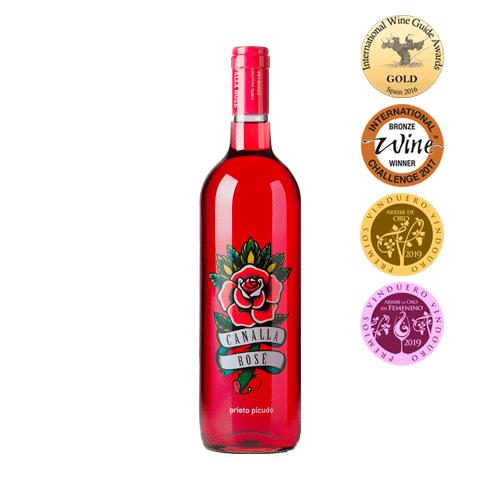 Canalla Rosé Prieto Picudo DO León Vino Rosado (Caja de 6 uds.)