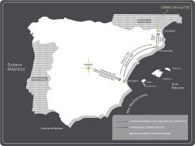 Mapa de los diferentes traslados de obras. Fuente: blog arte secreto.