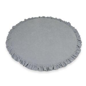 világosszürke velvet fodros játszószőnyeg 100 cm