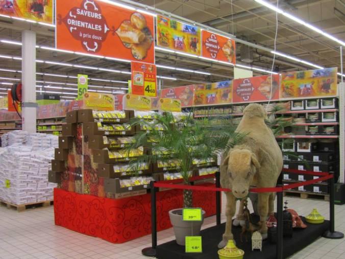 """Décoration """"Ramadan"""" au Auchan de Leers."""