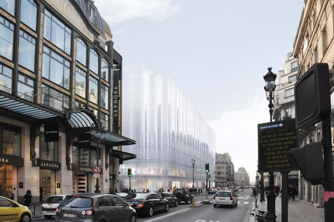 La nouvelle façade de la Samaritaine, rue de Rivoli. SANAA architects
