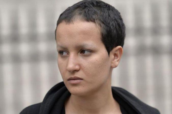 Portrait d'Amina Sboui, l'ex-Femen à Paris, le 7 juillet. (Photo Miguel Medina. AFP)