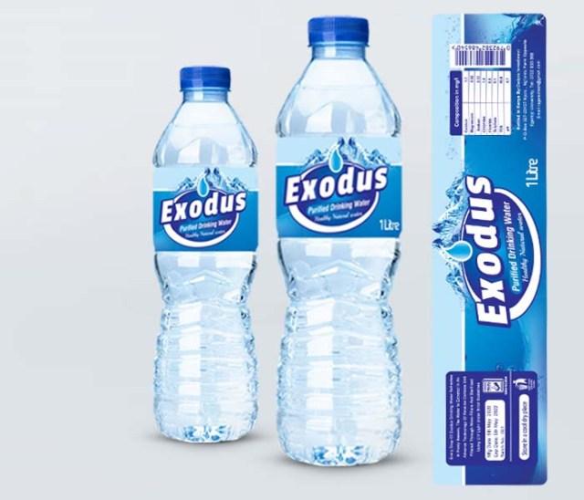 Water Bottle Sticker Label Kenya Design & Beaverages
