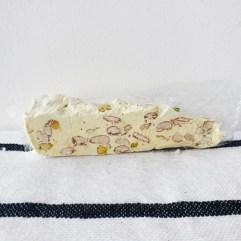 Nougat punt met pistache en amandel