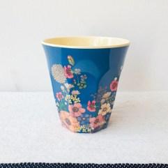 Bloemen print, medium melamine beker - Rice
