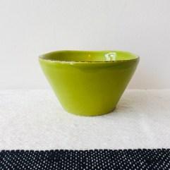 Groen keramiek dipschaaltje- Rice