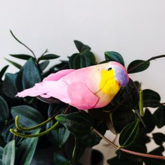 Decoratie vogel roze