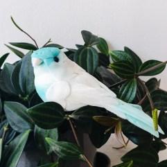 Decoratie vogel blauw