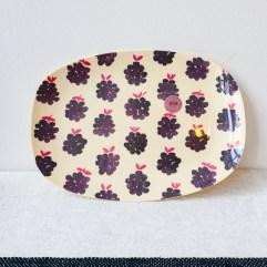 Bramen print rechthoekig melamine bord - Rice