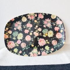 Bloemen print rechthoekig melamine bord - Rice