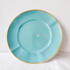 Porseleinen dinerbord, licht blauw - Rice