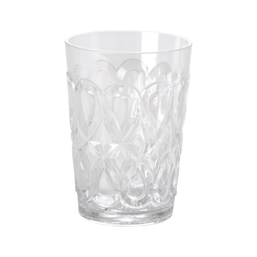 Acrylic Tumbler - Swirly Embossed Detail Detail - Clear