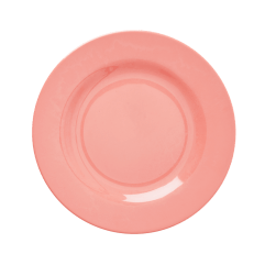 Rond Melamine Lunch Bord, Koraal Roze - Rice