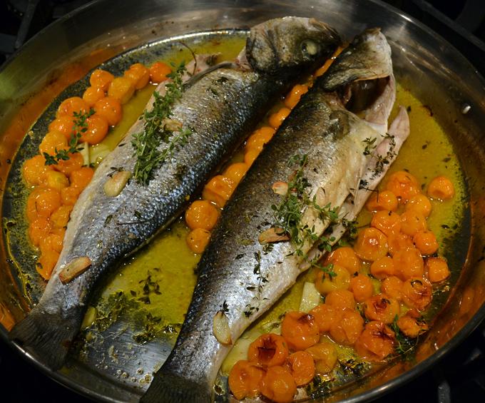 Branzini al Forno - Oven Prepared Seabass |labellasorella.com