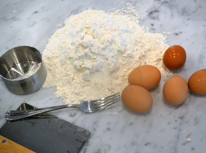 Fresh pasta ingredients| labellasorella.com