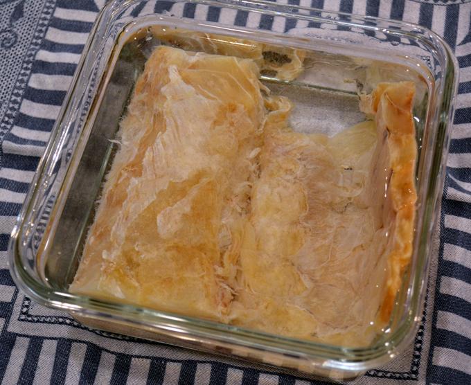 Baccala soaking | labellasorella.com