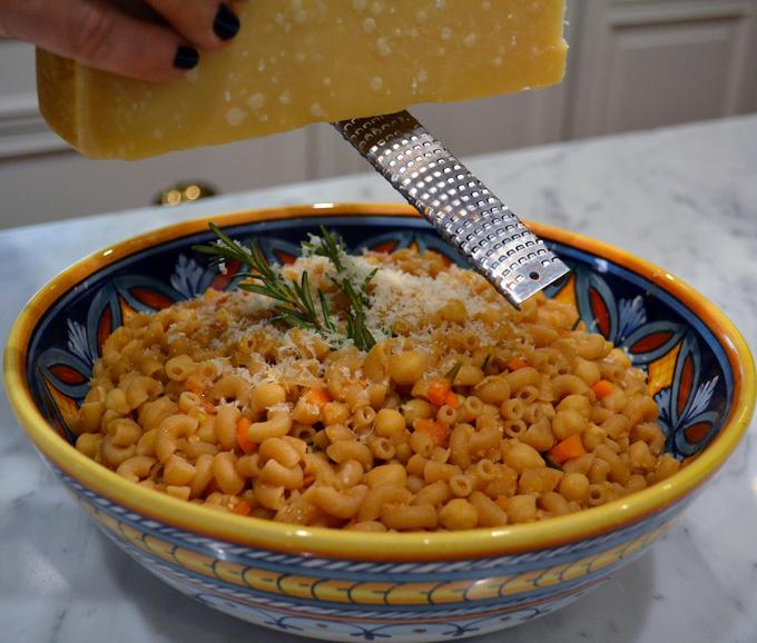 Pasta e Ceci with Parmigiano | labellasorella.com