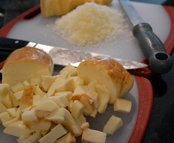 Cheeses for eggplant lasagna | labellasorella.com