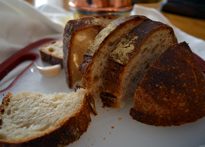 Country style bread is perfect for Summer Vegetable Soup | labellasorella.com