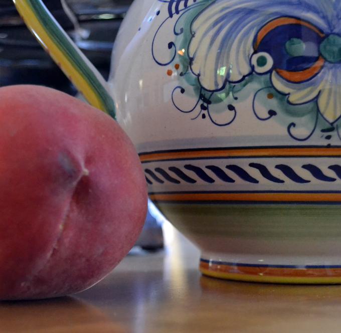 July white peach, perfect for White Peach & Arugula Salad   labellasorella.com