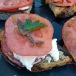 Bruschetta with Tomato, Mozzarella & Anchovy – Bruschetta con Pomodoro, Mozzerella & Acciuga