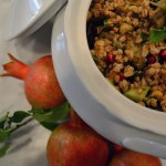 Farro, Eggplant and Pomegranate Salad – Insalata di Farro, Melanzane & Melegrano