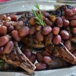 Grilled Veal Chops with Rosemary Roasted Grapes – Costolette di Vitello alla griglia con Rosemarino Uva Arrosto