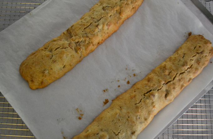 The Fig Biscotti after the first baking | labellasorella.com