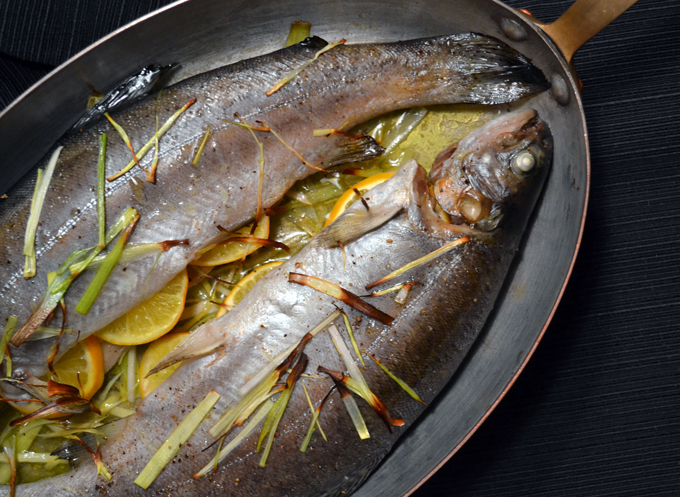 Roasted Trout with Lemons & Leeks | labellasorella.com
